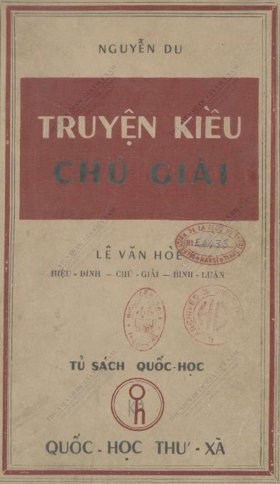 Truyện Kiều chú giải  D. Nguyễn, V. H. Lê. 1953