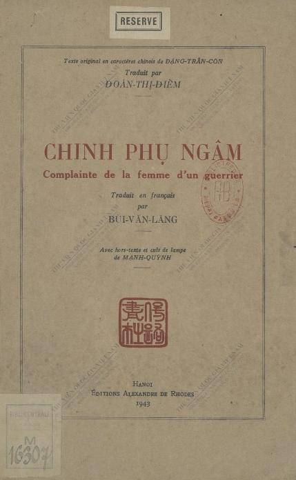 Chinh phụ ngâm  T. C. Đặng. 1943