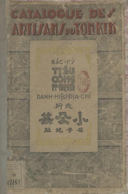 Catalogue des artisans du Tonkin  1942