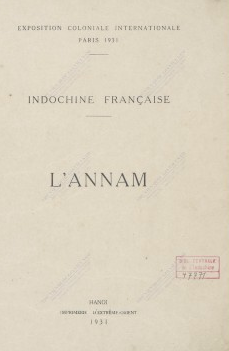 L'Annam  1931