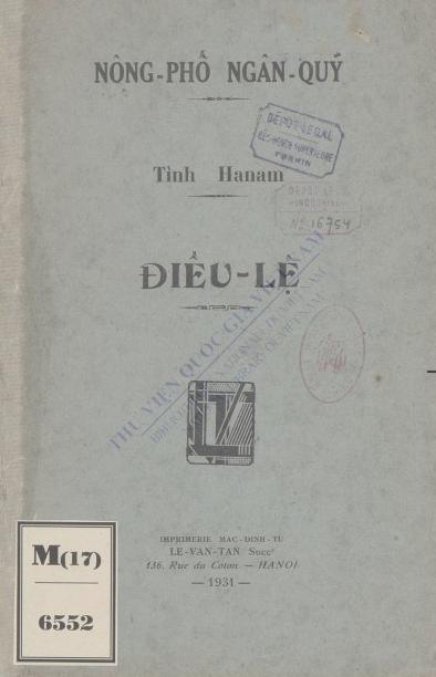 Điều lệ  1931