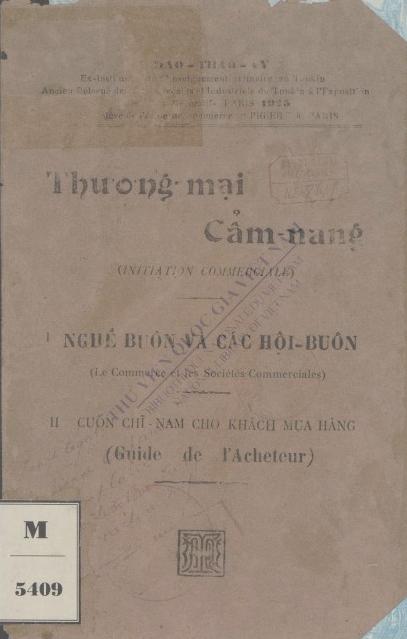 Thương mại cẩm nang  Đào Thao Vy. 1927