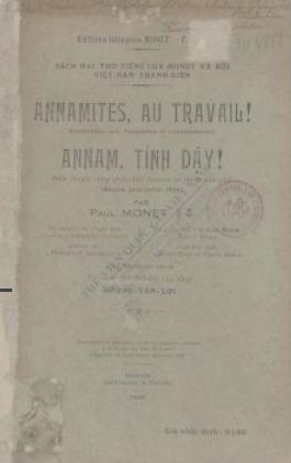 Annamites, au travail - Annam, tỉnh dậy P. Monet. 1926