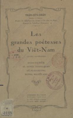 Les Grandes poétesses du Viêt-Nam  Trần Cửu Chấn. 1950