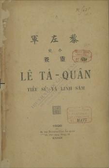Lê Tả Quân: tiểu sử và linh sám  Nguyễn Kim Đính. 1926