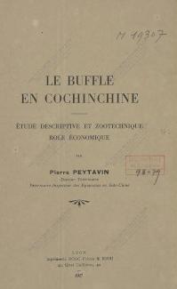 Le Buffle en Cochinchine  P. Peytavin. 1927