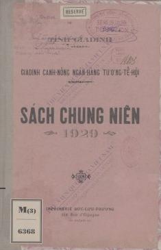 Sách chung niên 1929