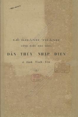 Dẫn Thuỷ nhập Điền   H. Cucherousset. 1921