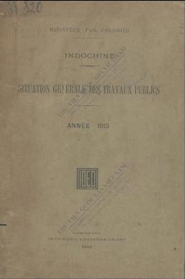 Situation générale des travaux publics  1913