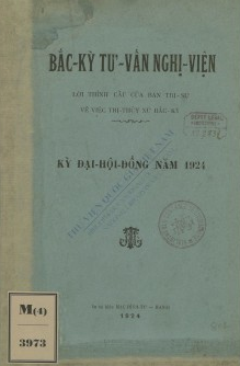 Bắc Kỳ tư vấn nghị viện  1924