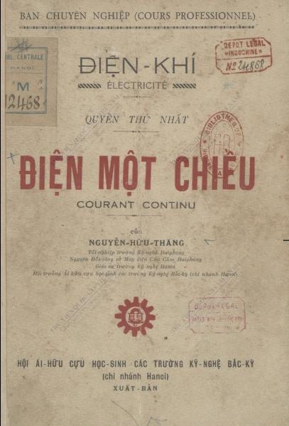 Điện một chiều Hữu Thăng Nguyễn. 1939