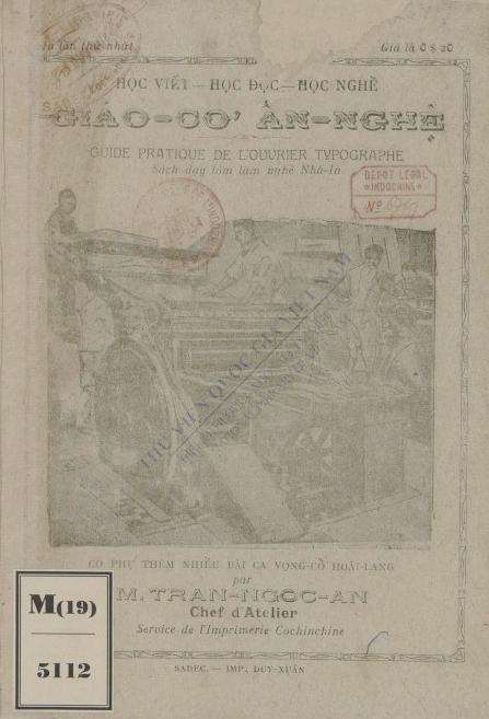 Giáo cơ ấn nghệ : Sách dạy làm nghề nhà in  1927